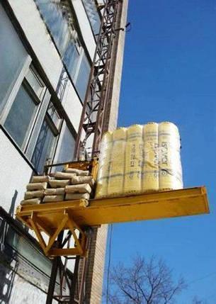 Грузовой подъемник-подъёмники мачтовый-мачтовые, строительные г/п-2000 кг, 2 тонны. Высота подъёма, м 53, фото 2