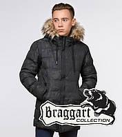 """Подросток 13-17 лет   Куртка зимняя Braggart """"Teenager"""" 25030 черная, фото 1"""