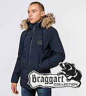 "Подросток 13-17 лет   Зимняя куртка Braggart ""Teenager"" 25550 синяя, фото 1"