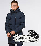 "Подросток 13-17 лет   Куртка зимняя Braggart ""Teenager"" 25120 синяя, фото 1"