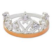 Серебряное кольцо с золотой пластиной 30501