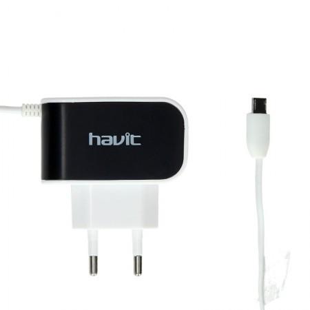 Зарядное устройство Havit  HV-UC215 micro usb black/white
