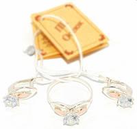 Серебряный набор с золотыми накладками 110 (серебро с золотом)
