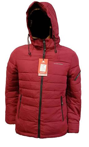 a08b7fb68c0fa Зимняя мужская куртка Malidinu на синтепоне Модель 18926 фирмы Малидину  Бордовая, фото 2