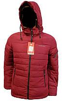 Зимняя мужская куртка Malidinu на синтепоне Модель 18926 фирмы Малидину Бордовая