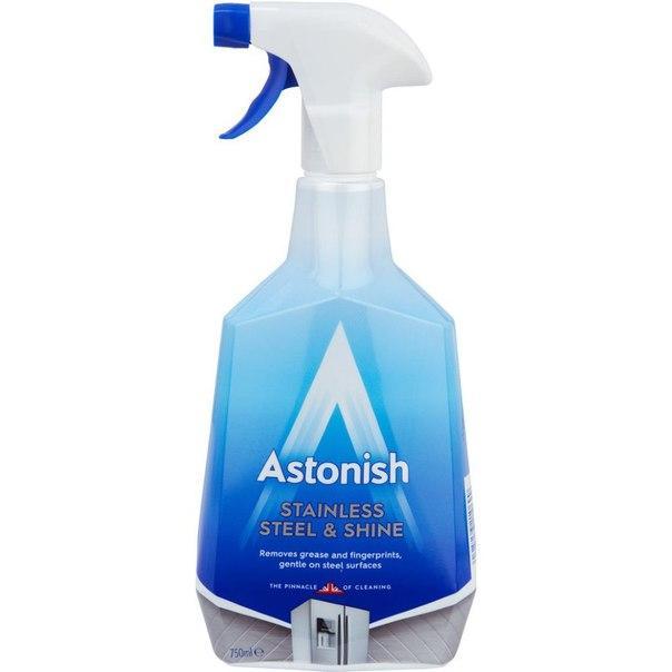 Средство для чистки и полировки изделий из нержавеющей стали Astonish 750 мл