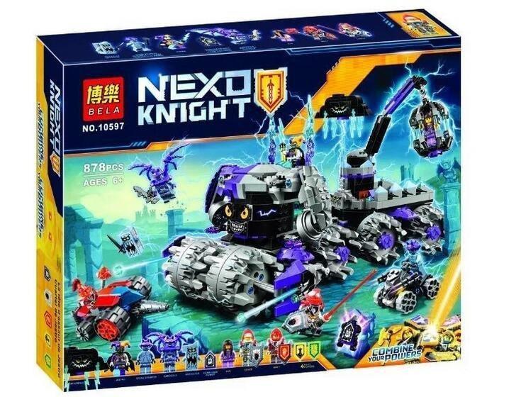 "Конструктор Bela 10597 ""Штаб Джестро"" 878 деталей. Аналог Lego Nexo Knights 70352"