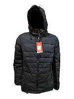 Зимняя мужская куртка Malidinu на синтепоне Модель 18926 фирмы Малидину Синяя