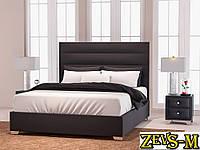 Ліжко двоспальне з мякою спинкою спальню Zevs-M Титан 140*190