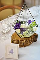 "Цветочная композиция на столы гостей ""Геометрия"" , фото 1"