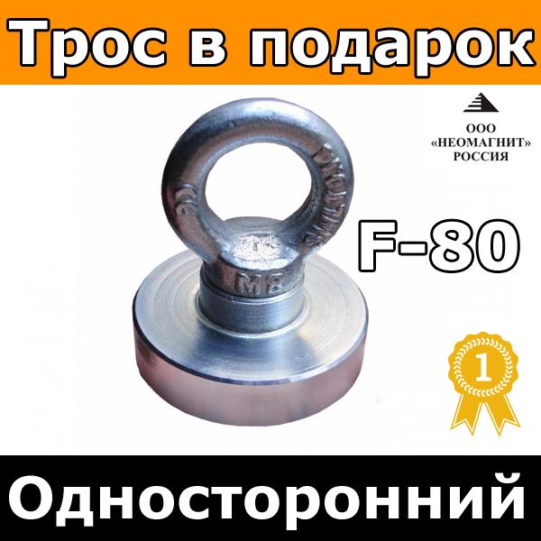 Поисковый Неодимовый Магнит ⭐⭐⭐⭐⭐ F80kg купить Редмаг в Украине односторонний недорого