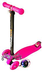 Трехколесный детский самокат Scooter MAXI - Розовый