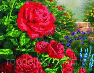 Схема для вышивки бисером « Красные розы»