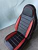 Чехлы на сиденья Фольксваген Венто (Volkswagen Vento) (универсальные, кожзам, пилот СПОРТ)