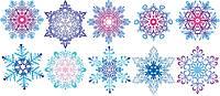 """Вирубка середня """"Сніжинки"""" (набір: 10 шт/уп.) 15-17см, фото 1"""
