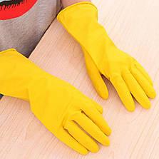 Латексные перчатки, хозяйственные, прочные, Household Gloves, размер — M, фото 3