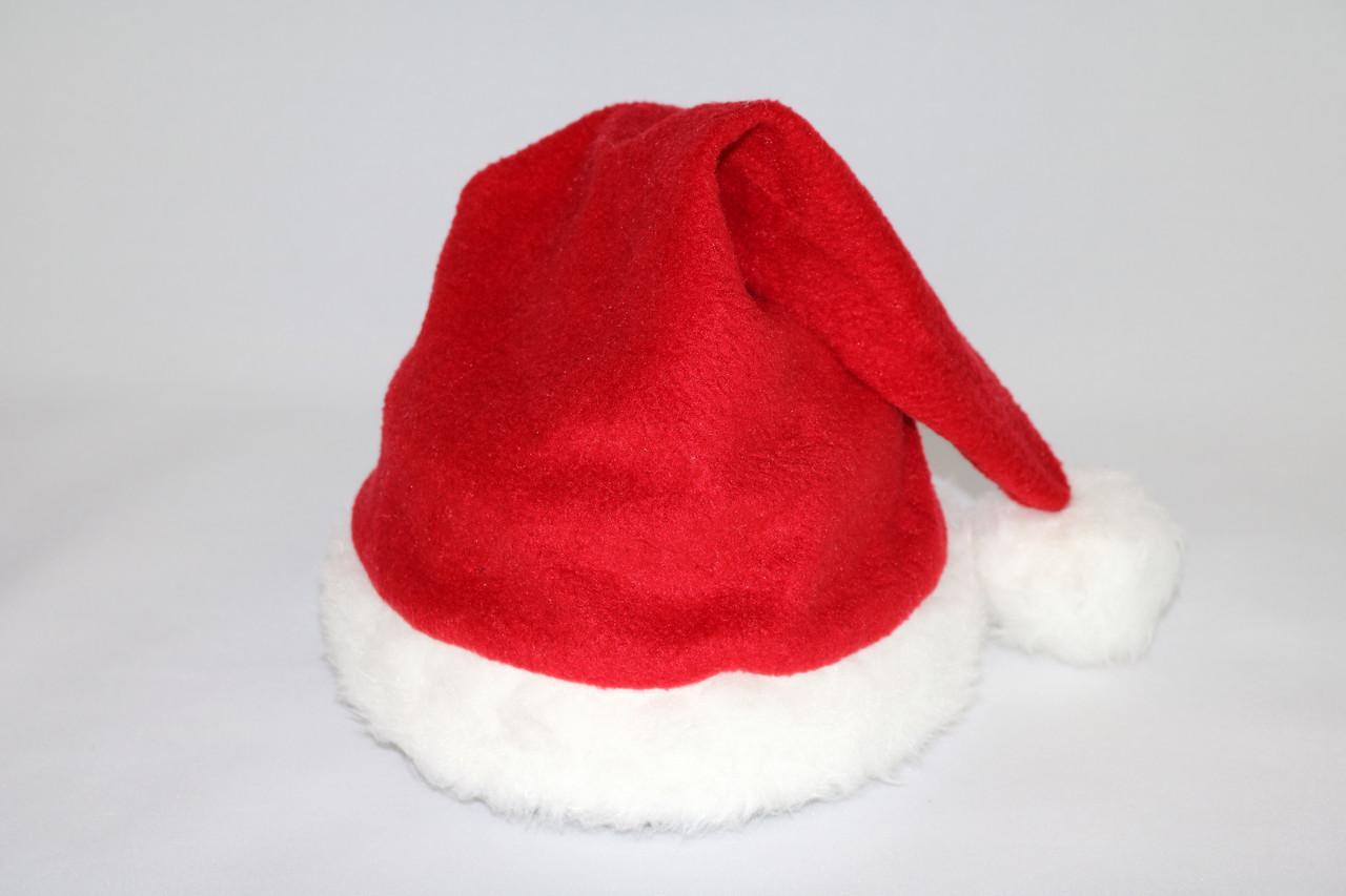 Новогодняя шапка Деда Мороза (Хорошее качество)Детская