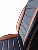 Чехлы на сиденья Вольво 440 (Volvo 440) (универсальные, кожзам, пилот СПОРТ), фото 6