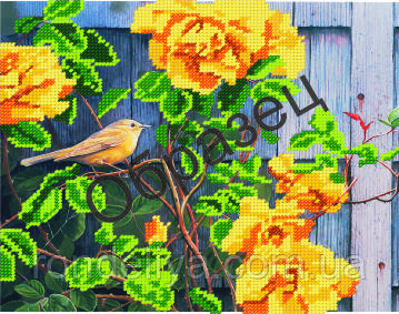 Схема для вышивки бисером « Желтые розы»