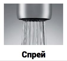 Насадка для экономии воды с потоком спрей