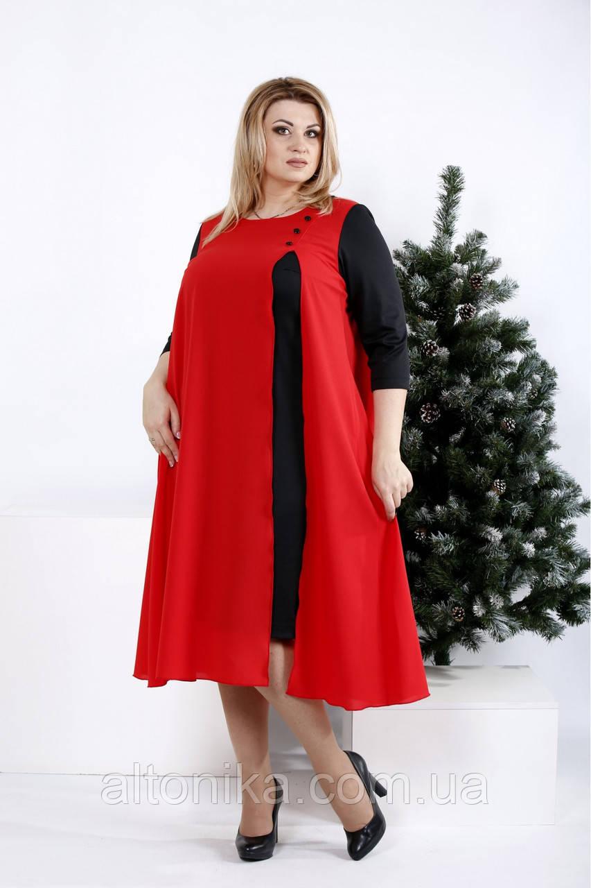 Женское нарядное платье свободного кроя | 42-74