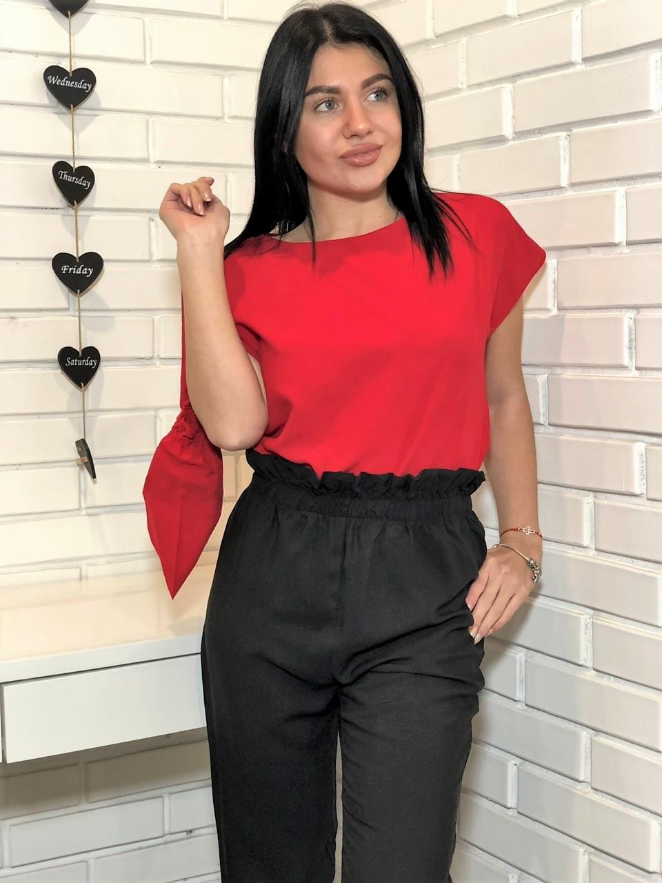 Женский домашний комплект для дома и сна ТМ Exclusive: футболка+ штаны +чехольчик