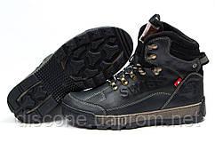 Зимние мужские ботинки 30641 ► Switzerland Swiss, черные ✅SALE! 47% ► [ 41 ]