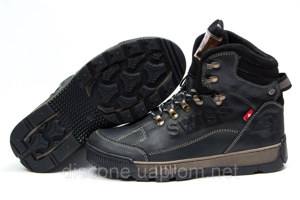Зимние ботинки на меху ► Switzerland Swiss,  черные (Код: 30641) ► [  41 (последняя пара)  ] ✅Скидка 32%