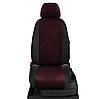 Чехлы на сиденья Тойота Аурис (Toyota Auris) (модельные, экокожа+автоткань, отдельный подголовник), фото 7