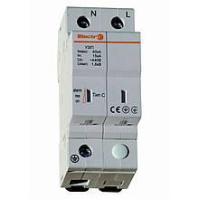 Ограничитель импульсных перенапряжений УЗИП  15кА - 40 кA  1п+N  тип С