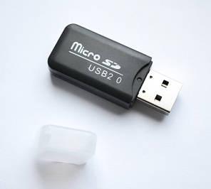 Картридер Card reader карт ридер адаптер USB, переходник Micro SD USB cr 122, фото 2