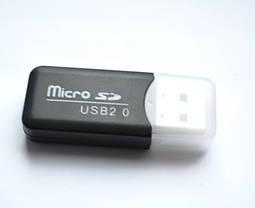 Картридер Card reader карт ридер адаптер USB, переходник Micro SD USB cr 122, фото 3