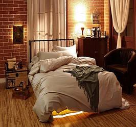 Комплект постельного белья Царский Дом из Сатина SOFT SALMON Евро