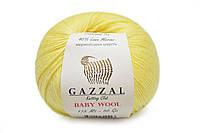 Gazzal Baby Wool, Лимонный №833