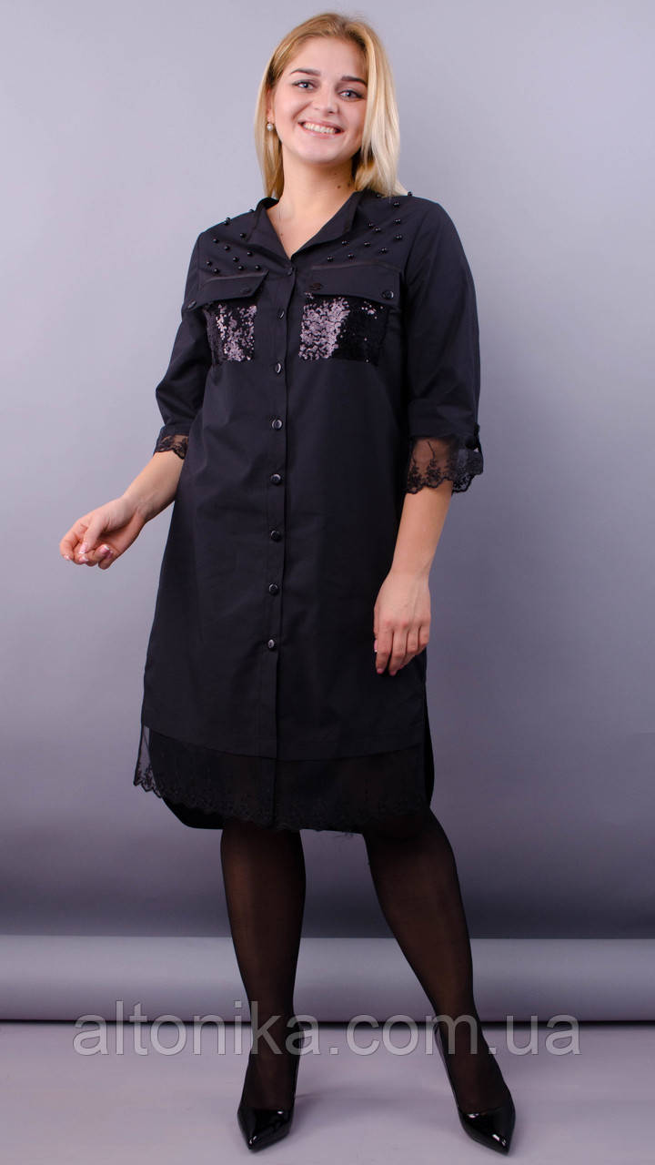 Глем. Нарядное платье-рубашка. 50-52, 54-56