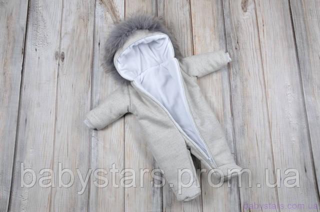 теплый комбинезон для новорожденных зимний