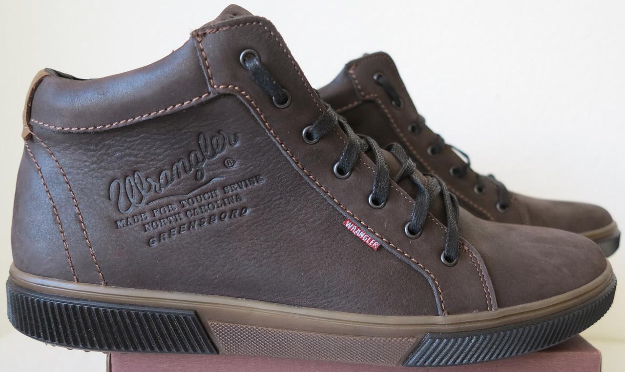 6aea40487 Wrangler Мужские зимние кеды ботинки натуральная кожа в спортивном стиле  обувь сапоги в стиле Вранглер коричн