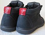 Wrangler Мужские зимние кеды ботинки натуральная кожа в спортивном стиле обувь  сапоги в стиле Вранглер синие, фото 5
