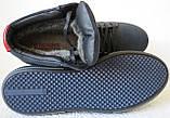 Wrangler Мужские зимние кеды ботинки натуральная кожа в спортивном стиле обувь  сапоги в стиле Вранглер синие, фото 6