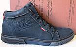 Wrangler Мужские зимние кеды ботинки натуральная кожа в спортивном стиле обувь  сапоги в стиле Вранглер синие, фото 2