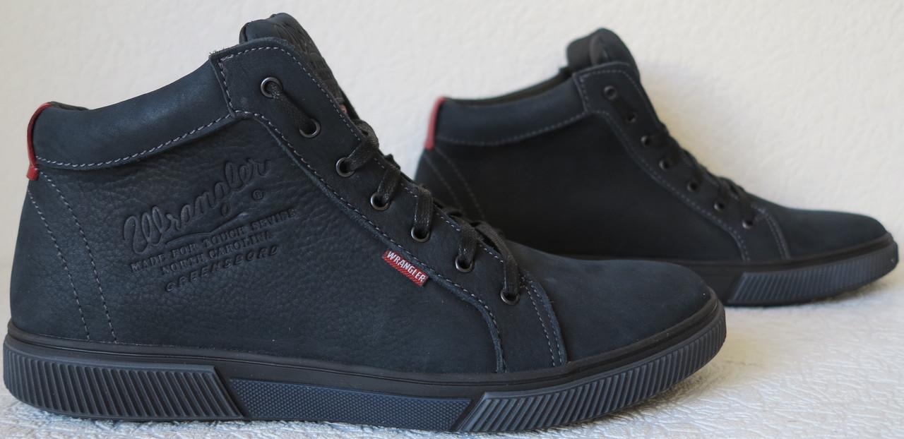 51e35f4db Wrangler Мужские зимние кеды ботинки натуральная кожа в спортивном стиле  обувь сапоги в стиле Вранглер синие