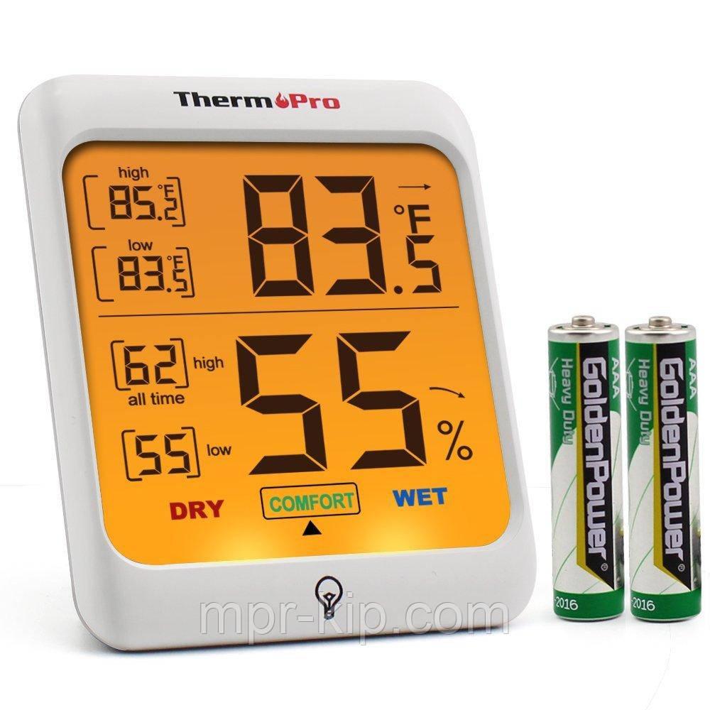 Термо-гигрометр ThermoPro TP-53 (-50°C ... 70°C; 10%...99%) с подсветкой и магнитом