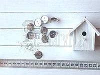 Заготовка для брошки-кабошон 20мм серебряная
