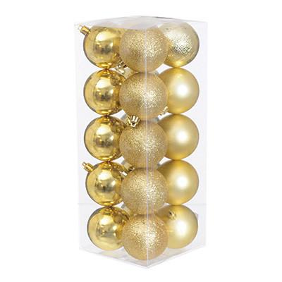 Набор елочных шаров Jumi (20 шт), 6 см, золотистый