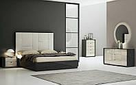 Спальня Мерида (Графит / Бежевый) с подъемным мех. (раскомплектовуется)