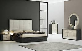 Спальня Мерида (Графит / Бежевый) (1,80 м.) с подъемным мех. (раскомплектовуется)