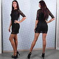 Женское платье-чехол из гипюра Winter D101-1 S Размер 40-42