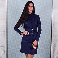 Замшевое платье для женщин морского цвета Winter D102-2 M Размер 42-44