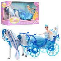 Игровой набор Карета 33см с лошадью 25см и куклой 28см.