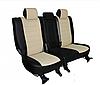 Чехлы на сиденья Шкода Октавия А7 (Skoda Octavia A7) (модельные, экокожа Аригон, отдельный подголовник)